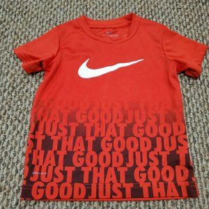 Nike Dri-Fit Baby Toddler Red T-Shirt 3T